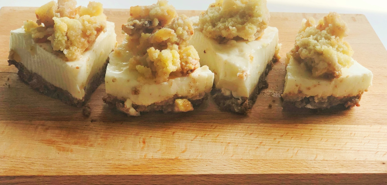 Appel Crumble Cheesecake