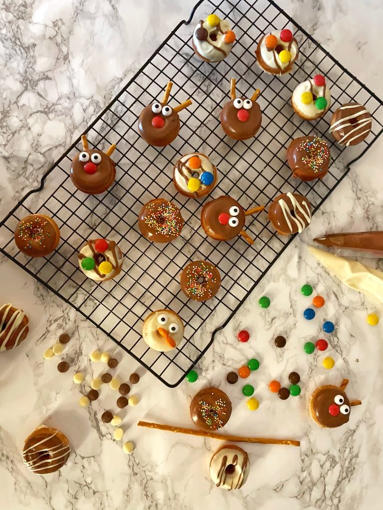 Mini donuts, kerstdonuts, christmasdonuts, donuts