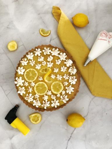 Lemon Curd Meringue taart - Bakken met Lisanne